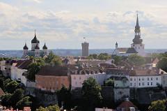 Blick auf den Domberg von Tallinn.