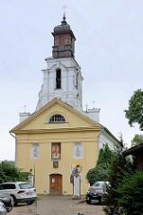 Kirche St. Bartholomew im Stadtteil Užupis in Vilnius. Erbaut 1778 - Architekt Martynas Knakfusas / Martin Knackfuss. Ab 1949 Nutzung als Skulpturenwerkstatt - 1997 Übergabe an die belarussisch-katholischen Gemeinde.