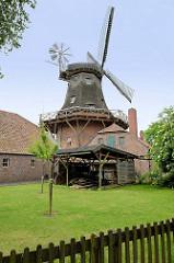 Schlachtmühle von Jever; zweistöckige Galerieholländer - erbaut 1847 / Kornmühle; jetzt Nutzung der Nebenräume als Landwirtschaftsmuseum.