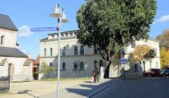 Historisches Baudenkmal Neue Wache / Kaserne an der Riestedter Straße in Sangerhausen.