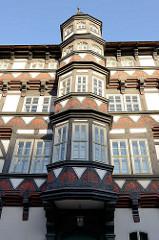 Fachwerkerker - Museum Alte Münze in Stolberg / Harz; Fachwerkhaus, erbaut 1535 - Bauherr damaliger Bürgermeister und Münzmeister Kessler, Baustil Renaissance.