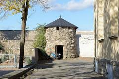Reste der historischen Stadtmauer von Sangerhausen - ehem. Wehrturm.