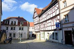 Wohnhäuser an der Schloßgasse in Sangerhausen.