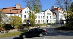 Alte Klinik in Sangerhausen - ehemaliges Kreiskrankenhaus, jetzt Nutzung als Flüchtlingsunterkunft.