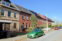 Siedlungshäuser / Arbeitersiedlung in Sangerhausen, Hüttenstraße.