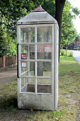 Alte Telefonzelle der Telekom - Hauptstraße in Bispingen.