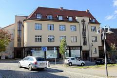 Wohn- und Geschäftshaus am Kirchberg in Sangerhausen.