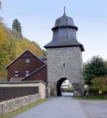 Rittertor von Stolberg /  Harz - mittelalterliches Stadttor, um 1280 als Torhaus errichtet.