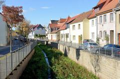 Bachlauf der Gonna durch Sangerhausen.