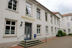 Gebäude vom Amtsgericht Aurich - gegründet 1852.
