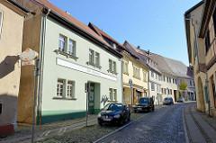 Historische Wohnhäuser / Geschäftshäuder, Alte Druckerei in der Alten Magdeburger Straße von Sangerhausen.