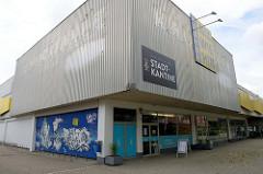 Gebäude der ehem. Kaufhalle in Aurich - jetzt Nutzung als Stadtkantine.