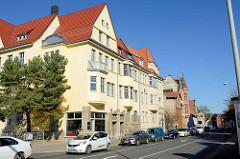 Wohnblock der Gründerzeit in der Wanfrieder Straße von Mühlhausen.