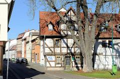 Fachwerkgebäude eine Feldstraße Mülhausen,  Wohnhäuser in der Ammerstraße.