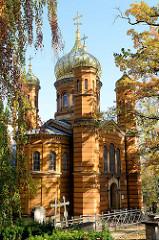 Russisch-orthodoxe Kapelle an der Fürstengruft auf dem historischen Friedhof von Weimar.