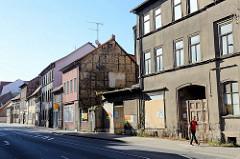 Wohn- und Gewerbegebäude in der Wanfrieder Straße von Mühlhausen/Thüringen.