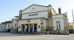 Empfangsgebäude / Bahnhof von bis Gotha, ursprünglich errichtet 1847.