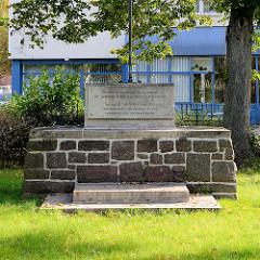 Denkmal bei der Karl-Marx-Straße in Eisenach, ehemaliger Standort der Synagoge die 1938 verwüstet und niedergebrannt wurde.