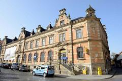 Historische Architektur vom kaiserlichen Postamt am Georg-Philipp-Telemann-Platz in Eisenach; erbaut 1885.