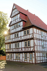 Gerodesches Haus / Bertramsches Haus in Duderstadt, erbaut 1627 -  ehemaliges Stadthaus des Klosters Gerode, jetzt Nutzung als Stadtbibliothek.