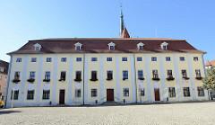 Verwaltungsgebäude am Obermarkt in Mühlhausen, Thüringen.