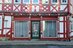 Eingangsbereich, Fassade vom Wanke'schen Haus in der Steinstraße von Duderstadt.
