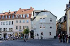 Platz Frauenplan / Frauentorstraße in Weimar - Gasthaus zum weißen Schwan; errichtet um 1500. neben anderen berühmten Gästen besuchte auch Goethe Gasthaus.