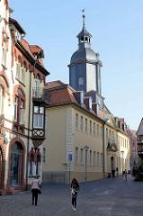 Hospitalgasse von Gotha, Blick zur ehemaligenHospitalkirche vom Maria-Magdalena-Hospital in Gotha; fertig gestellt 1719, Architekt : Johann Erhard Straßburger.