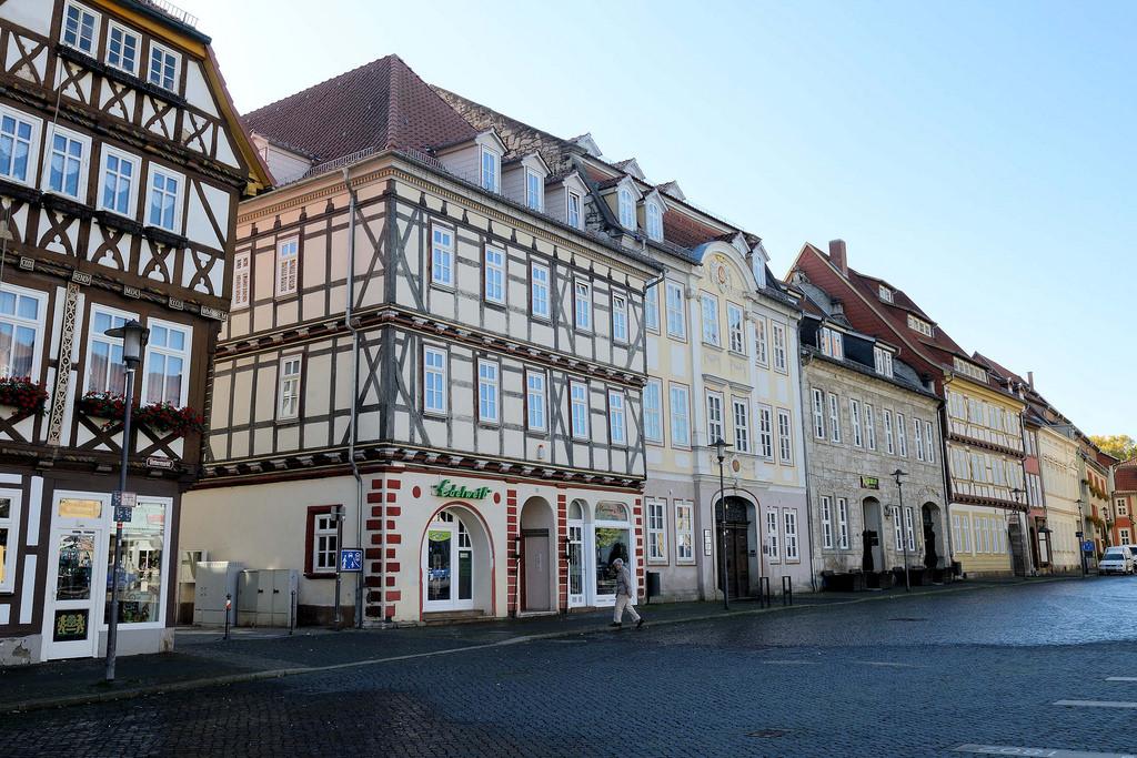 """Hansestädte: Foto """"Brunnen am Untermarkt in Mühlhausen"""
