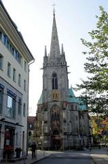 Die Kirche St. Elisabeth ist die katholische Pfarrkirche von Eisenach; sie wurde 1888 im neugotischen Stil erbaut / Architekt Hugo Schneider.