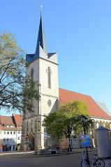 St. Servatius Kirche in Duderstadt; Ursprungsbau von 1520 - dreischiffige gotische Hallenkirche.