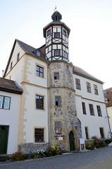 Residenzhaus an der Esplanade von Eisenach, errichtet um 1500.