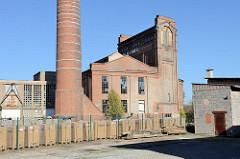 Historische Industriearchitektur, stillgelegte Kammgarn Spinnerei in Mühlhausen, erbaut 1898.