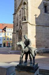 Pferdebrunnen an der Servatius Kirche in Duderstadt - Entwurf Herbert Blaschke.