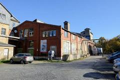 Alte Fabrikgebäude vom ehemaligen e-Werk in Weimar, stillgelegt 1996