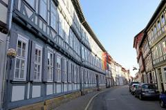Historische Fachwerkhäuser in der Hinterstraße von Duderstadt.