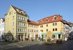 Wohn- und Geschäftshäuser am Buttermarkt in Gotha.