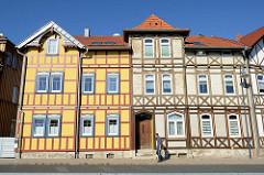 Fachwerkgebäude in der Tonbergstraße von Mühlhausen