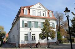 Wohnhäuser bei der Marinemauer in Naumburg.