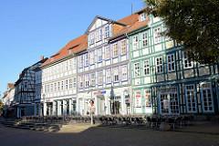 Geschäftshäuser / Wohnhäuser - Fachwerkarchitektur in Duderstadt, Marktstraße.