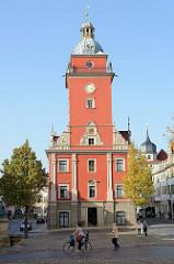 Historischen Rathaus mit Rathausturm in Gotha; erbaut um 1665  - Baumeister Rudolphi.