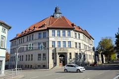 Schulgebäude vom Tilesius Gymnasium in Mühlhausen/An der Burg; erbaut 1927.