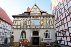 Architektur in Duderstadt, Marktstraße - Wohnhaus errichtet 1907 für A. Hoelscher - Architekt J. Freckmann.