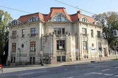 Jugendstilvilla an der Friedrichstraße in Gotha, erbaut 1904 -Architekt  Richard Klepzig.