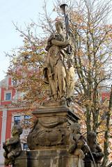 Schellenbrunnen am Unteren Hauptmarkt in Gotha.