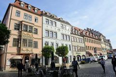 Historische Gebäude am Markt von Naumburg.