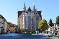 Divi Blasii Kirche am Untermarkt in Mühlhausen/Thüringen - der Deutsche Orden begann den Bau dieser gotischen Kirche um 1276. Von Juli 1707 bis Juli 1708 amtierte hier Johann Sebastian Bach als Organist.