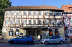 Fachwerkgebäude vom ehem. Lichtspielhaus Schauburg, eines der ältesten Kinos in Deutschland - Vorführungen bis 2008. Jetzt Nutzung als Restaurant und Indoor-Kinderspielplatz / und Konzert-Veranstaltungen.