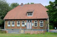 Historisches Wohnhaus in der Scheibenstraße von Soltau; das Gebäude steht unter Denkmalschutz.