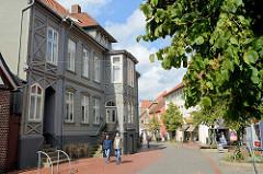 Blick in die Fußgängerzone der Marktstraße in der Innenstadt von Soltau.